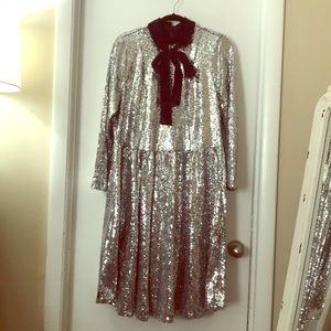 NWT Silver Sequin Dress Size 20 Eloquii Dress